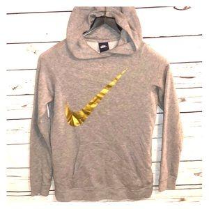Nike grey pullover girls XL